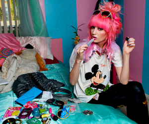 audrey kitching, fashion, and mickey mouse image