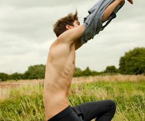skinny, shirtless, and boy image
