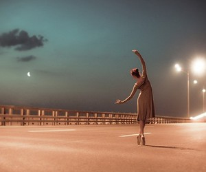 dance, ballet, and light image
