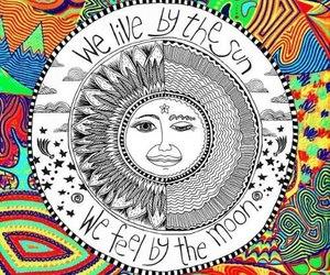 sun, moon, and live image