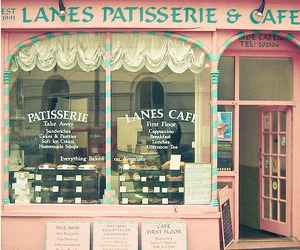 pink, cafe, and patisserie image