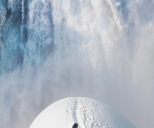 snow and waterfall image