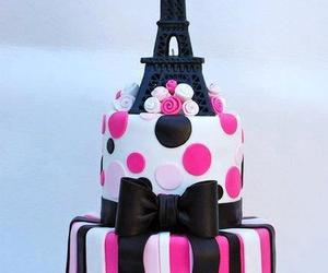 cake, paris, and pink image