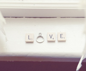 ring, love, and scrabble image