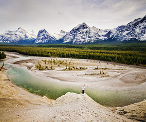 canada, landscape, and mountains image