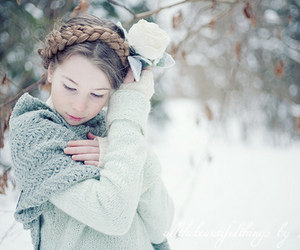winter, girl, and braid image