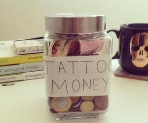 tattoo, money, and tattoo money image