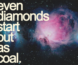 diamond, galaxy, and quote image