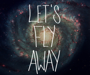 fly, away, and galaxy image