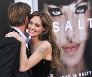 Angelina Jolie, brad pitt, and salt image