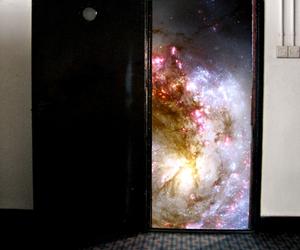 door, universe, and galaxy image