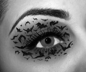 eyes, Halloween, and make up image