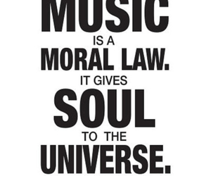 music, quote, and plato image