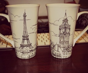 Big Ben, cups, and decor image
