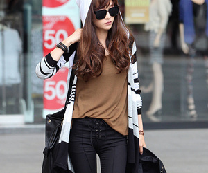 clothing, korean, and knit tops image