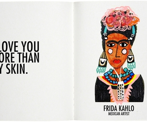 frida kahlo, love, and art image