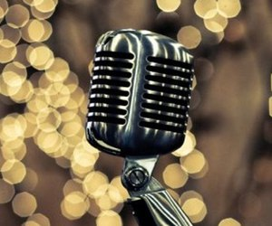 microphone, old, and retro image