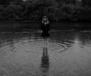black and white, photography, and water image