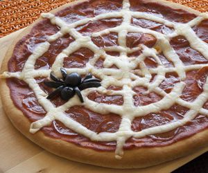 Halloween, rhodes, and pizza image