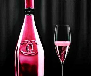 chanel, pink, and drink image