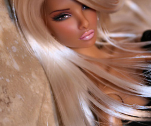 barbie, blonde, and doll image