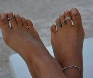 feet, rings, and summer image