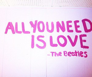 love, beatles, and the beatles image