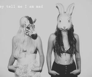 girl, mask, and zebra image