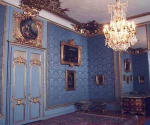 blue, vintage, and room image