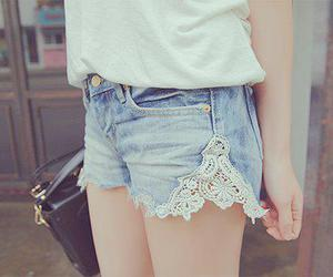 denim, cute, and shorts image