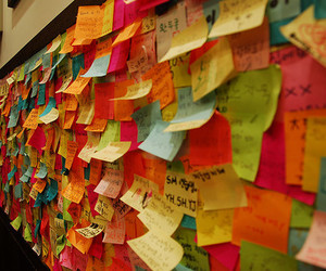 colorful, notes, and cute image