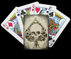 ace of spades, skull, and shayne of the dead image