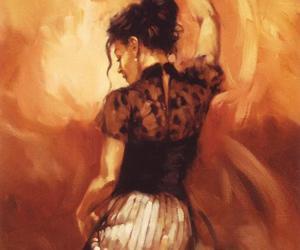 art, girl, and dance image