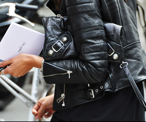 fashion, leather, and black image