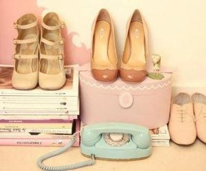 shoes, vintage, and pink image