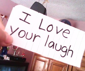 beautiful, I Love You, and laugh image