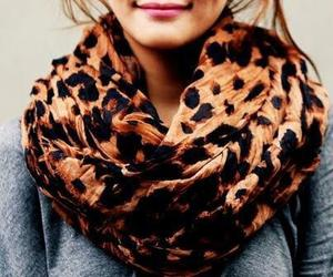 fashion, scarf, and leopard image