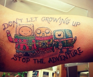 tattoo, adventure time, and finn image