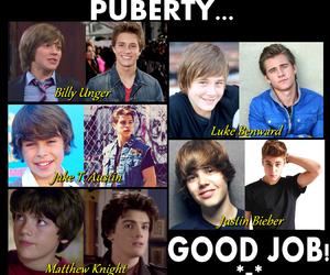 puberty, justin bieber, and luke benward image