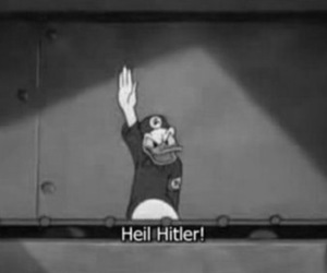 black and white and hitler image