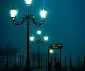 night, italy, and venice image