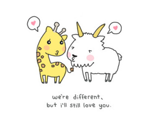 love, different, and quote image
