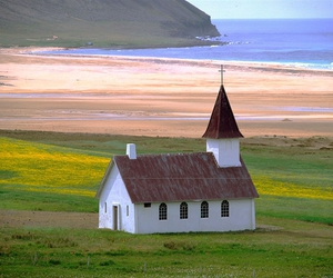 church and iceland image