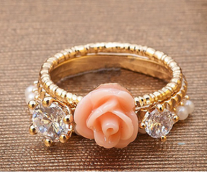 cupcake, flowers, and ring image