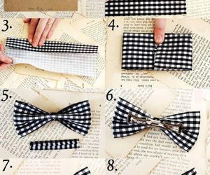 diy, bow, and tutorial image
