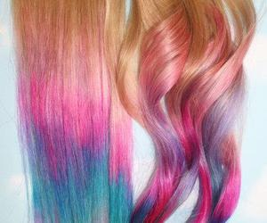 hair, pink, and cool image