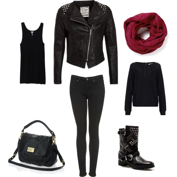 fall outfit bad girl  polyvore on we heart it
