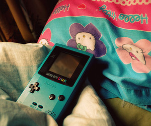 hello kitty, gameboy, and game boy image