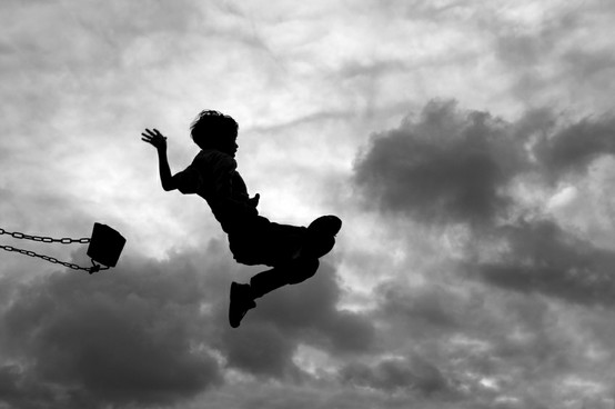 jump, silhouet, and swing image
