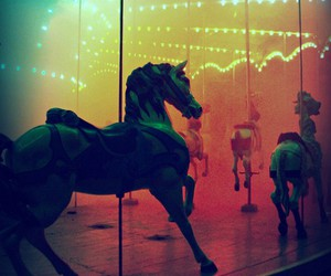 carousel, horse, and light image